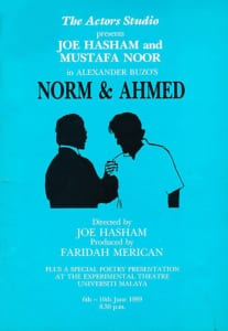 1989, Norm & Ahmed: Programme Cover