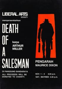 1989, Death of a Salesman: Programme Cover