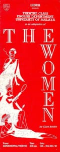 1989, The Women: Programme Cover