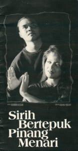 1992, Sirih Bertepuk Pinang Menari: Programme Cover