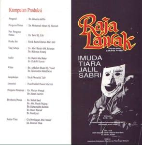 1992, Raja Lawak: Programme Outer Sheet