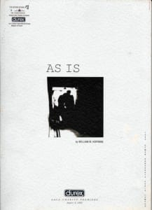 1992, As Is: Programme Cover