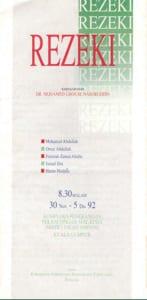 1992, Rezeki: Programme Cover