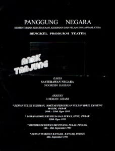 1993, Anak Tanjung: Programme Cover