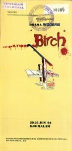 1994, Birch: Programme Cover