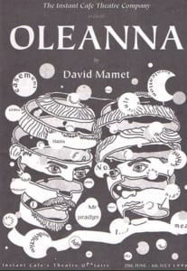 1996, Oleanna: Programme Cover