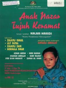 1996, Anak Nazar Tujuh Keramat: Programme Cover