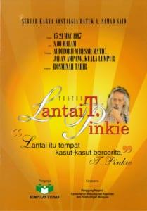 1997, Lantai T.Pinkie: Programme Cover