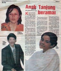 1997, Anak Tanjung: Harian Metro Article