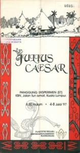 1997, Julius Caesar: Programme Cover