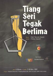 1997, Tiang Seri Tegak Berlima: Programme Cover