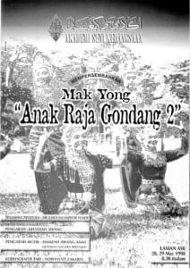 1998, Mak Yong Anak Raja Gondang 2: Programme Cover