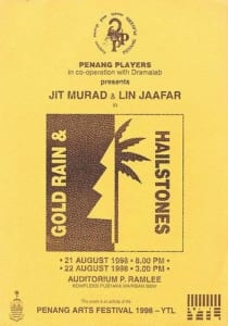 1998, Gold Rain & Hailstones: Programme Cover