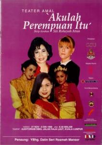 1998, Akulah Perempuan Itu: Programme Cover