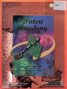 1999, Puteri Saadong: Programme Cover