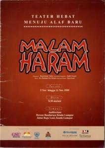 1999, Malam Haram: Programme Cover