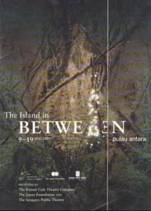 2001, The Island Between | Pulau Antara: Programme Cover
