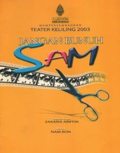 2003, Jangan Bunuh Sam: Programme Cover