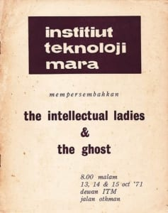 1971, The Intellectual Ladies | The Ghost: Programme Cover
