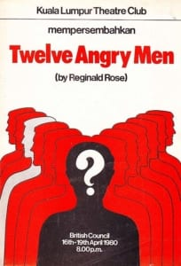 1980, Twelve Angry Men: Programme Cover
