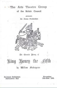 1952, King Henry The Fifth: Programme Cover