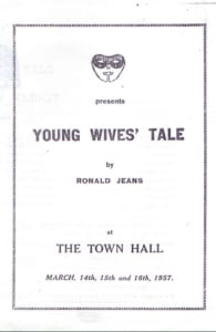 1957, Young Wives Tale: Programme Cover