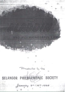 1960, Aladdin and His Wondeful Lamp: Programme Cover
