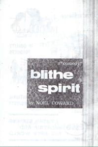 1963, Blithe Spirit: Programme Cover