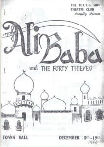 1964, Alibaba and The Forty Thieves: Programme Cover