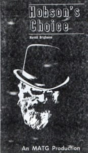 1965, Hobson's Choice: Programme Cover