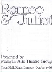1966, Romeo and Juliet: Programme Cover