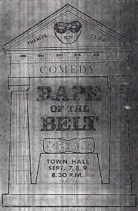 1967, Rape of The Belt: Programme Cover