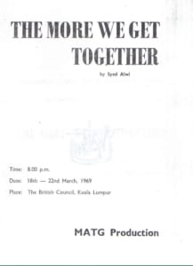1969, The More We Get Together: Programme Cover