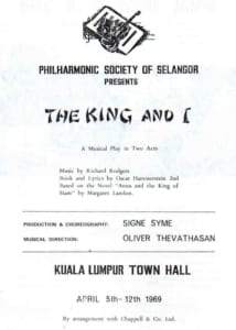 1969, The King and I: Programme Cover