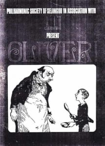 1970, Oliver!: Programme Cover