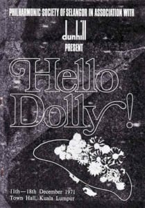 1971, Hello Dolly!: Programme Cover
