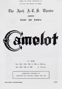 1972, Camelot: Programme Cover