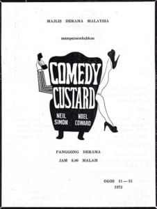 1972, Comedy Custard: Programme Cover