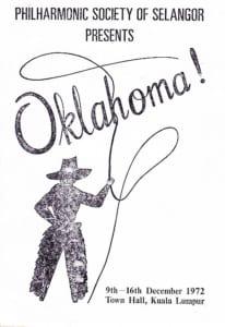 1972, Oklahoma!: Programme Cover