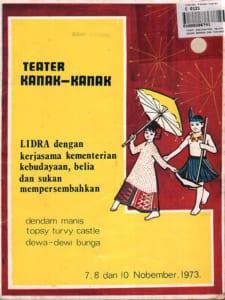 1973, Teater Kanak-Kanak: Programme Cover