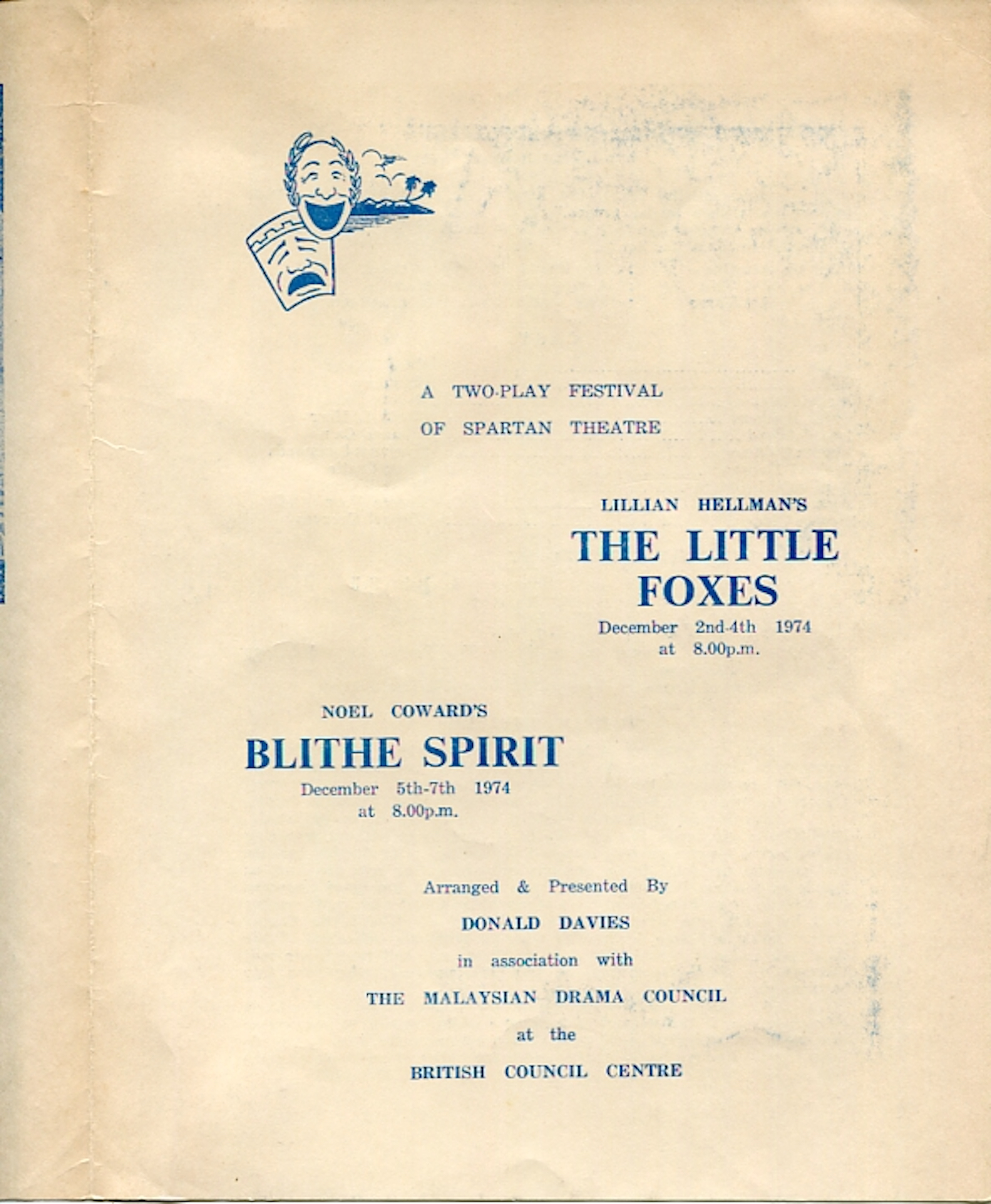 1974 The Little Foxes & Blithe Spirit cover 1