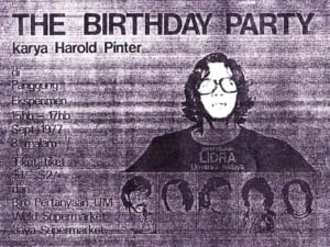 1977, The Birthday Party: Programme Cover