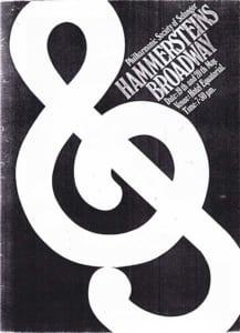 1976, Hammerstein's Broadway: Programme Cover
