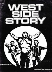 1976, West Side Story: Programme Cover