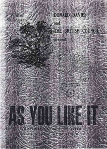 1977, As You Like It: Programme Cover