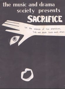 1978, Sacrifice: Programme Cover