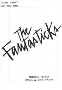 1978, The Fantasticks: Programme Cover