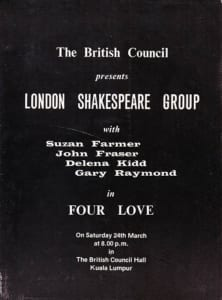 1979, Four Love: Programme Cover