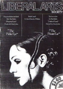 1981, The Public Eye & The Private Ear: Programme Cover