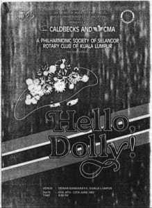 1982, Hello, Dolly!: Programme Cover